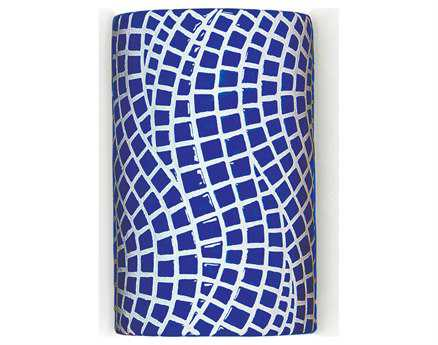 A19 Lighting Mosaic Channels Cobalt Blue Wall Sconce