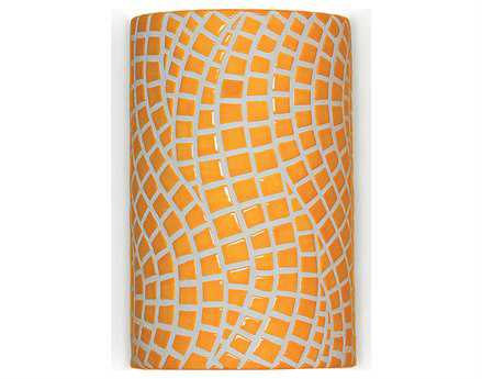 A19 Lighting Mosaic Channels Sunflower Yellow Wall Sconce