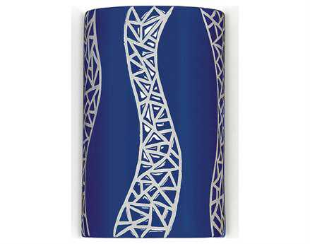 A19 Lighting Mosaic Passage Cobalt Blue Wall Sconce