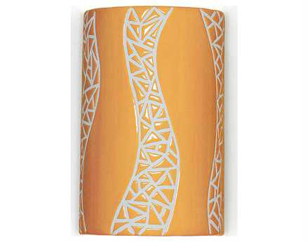 A19 Lighting Mosaic Passage Sunflower Yellow Wall Sconce