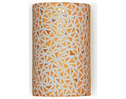 A19 Lighting Mosaic Impact Sunflower Yellow Wall Sconce