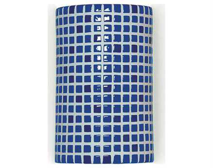 A19 Lighting Mosaic Confetti Cobalt Blue Wall Sconce