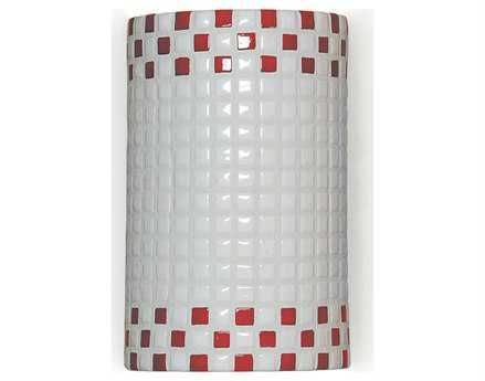 A19 Lighting Mosaic Checkers Red & White Wall Sconce