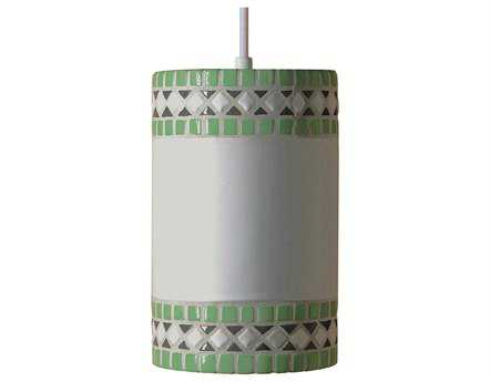 A19 Lighting Mosaic Borders Mint Green Pendant