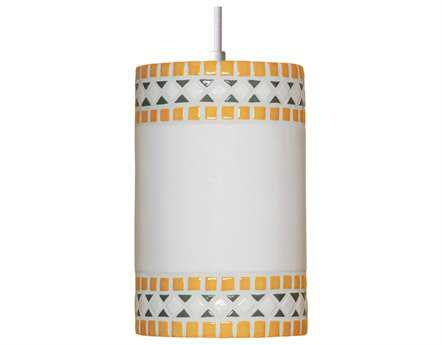 A19 Lighting Mosaic Borders Sunflower Yellow Pendant