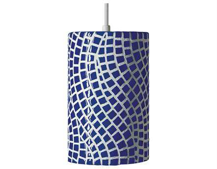 A19 Lighting Mosaic Channels Cobalt Blue Pendant