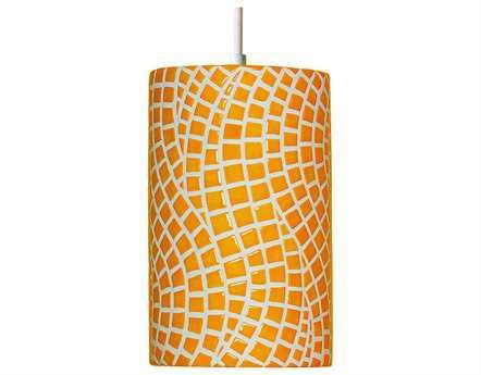 A19 Lighting Mosaic Channels Sunflower Yellow Pendant