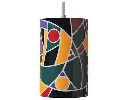 A19 Lighting Mosaic Picasso Multicolor Pendant