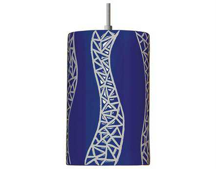 A19 Lighting Mosaic Passage Cobalt Blue Pendant