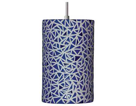A19 Lighting Mosaic Impact Cobalt Blue Pendant