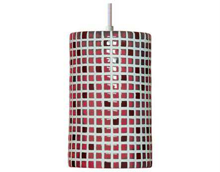 A19 Lighting Mosaic Confetti Matador Red Pendant