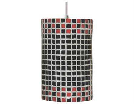 A19 Lighting Mosaic Checkers Red & Black Pendant