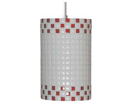 A19 Lighting Mosaic Checkers Red & White Pendant