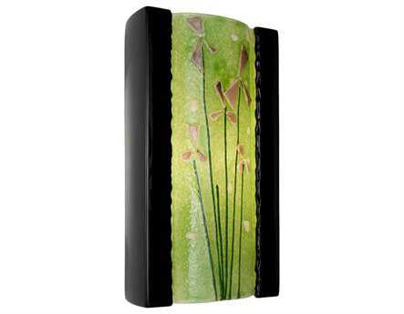 A19 Lighting reFusion Meadow Black Gloss & Lime Wall Sconce