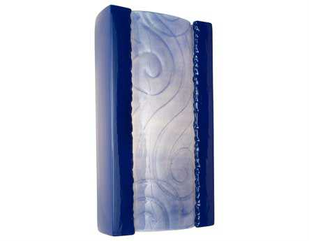 A19 Lighting reFusion Clouds Cobalt Blue & Sapphire Wall Sconce