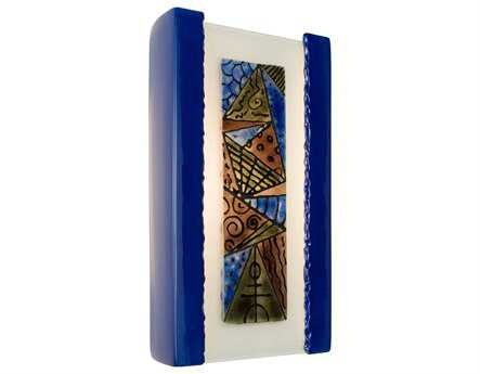 A19 Lighting reFusion Abstract Cobalt Blue & Sapphire Wall Sconce