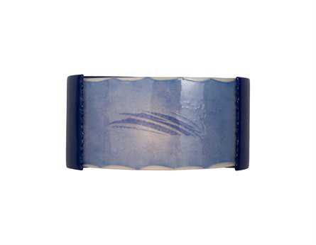 A19 Lighting reFusion Storm Cobalt Blue & Sapphire Wall Sconce