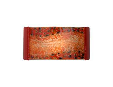 A19 Lighting reFusion Ebb & Flow Matador Red & Fire Wall Sconce