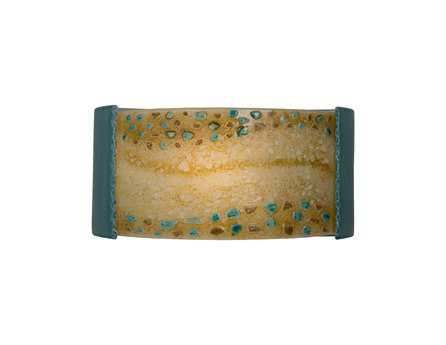 A19 Lighting reFusion Ebb & Flow Teal Crackle & Amber Wall Sconce