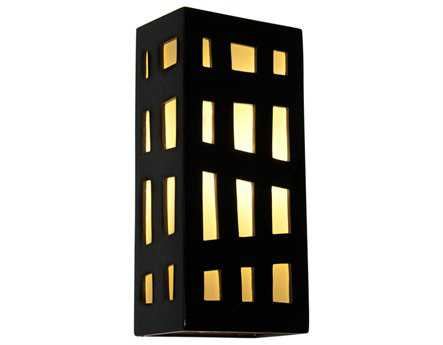 A19 Lighting reFusion Grid Black Gloss & White Frost Wall Sconce