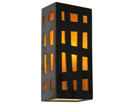 A19 Lighting reFusion Grid Gunmetal & Tangelo Wall Sconce