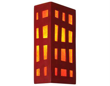 A19 Lighting reFusion Grid Matador Red & Fire Wall Sconce