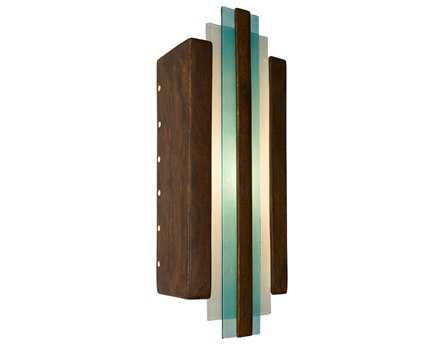 A19 Lighting reFusion Empire Butternut & Turquoise Wall Sconce