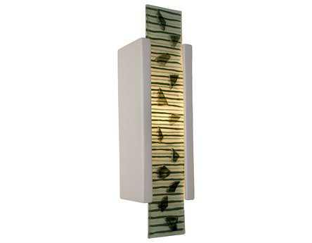 A19 Lighting reFusion Zen Garden White Gloss & Seaweed Wall Sconce