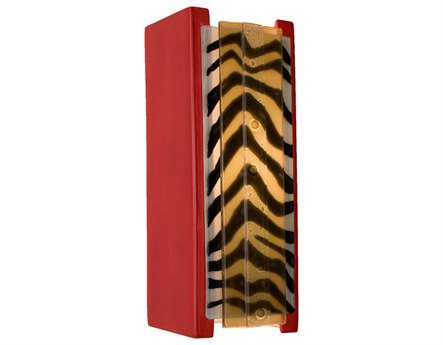 A19 Lighting reFusion Safari Matador Red & Zebra Caramel Wall Sconce
