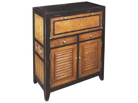 Authentic Models Furniture 29.5 x 14 Cape Cod Black Console Chest