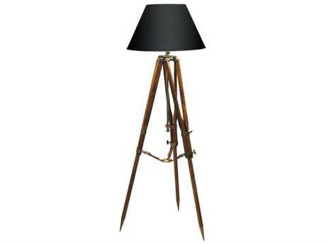 Authentic Models Campaign Black Shade Tripod Lamp
