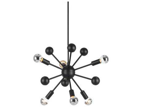 AF Lighting Satellite Matte Black 15'' Pendant Light