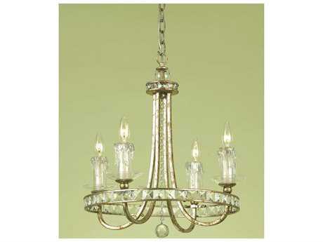 AF Lighting Candice Olson Gold Four-Light 20'' Wide Mini Chandelier
