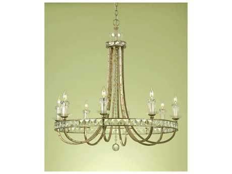 AF Lighting Candice Olson Gold Eight-Light 34'' Wide Chandelier