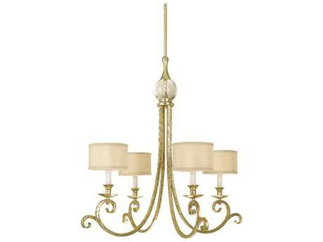 AF Lighting Candice Olson Soft Gold Four-Light 30'' Wide Chandelier
