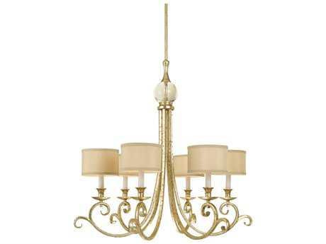 AF Lighting Candice Olson Soft Gold Six-Light 30'' Wide Chandelier