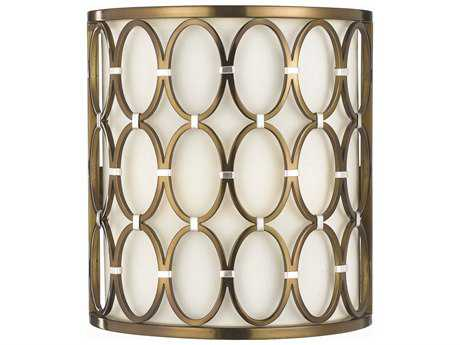 AF Lighting Candice Olson Satin Brass Two Light Sconce