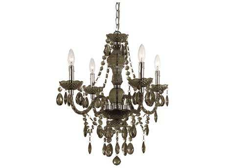 AF Lighting Naples Smoke Four-Light 21'' Wide Mini Chandelier