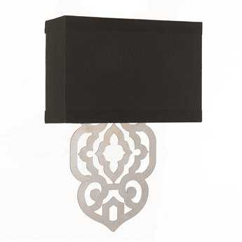 AF Lighting Candice Olson Silver Foil Two Light Sconce