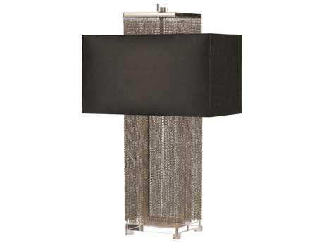 AF Lighting Candice Olson Silver & Nickel Two Light Table Lamp