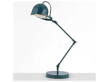 AF Lighting Cooper Adjustable Blue Desk Lamp