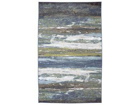 American Rug Craftsmen Concord Abstract Shore Rectangular Blue Area Rug