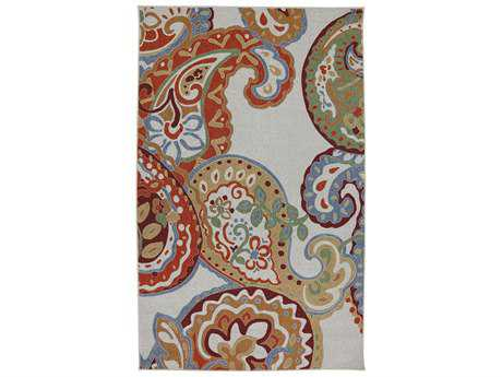 American Rug Craftsmen Concord Paisley Escape Rectangular Blue Area Rug