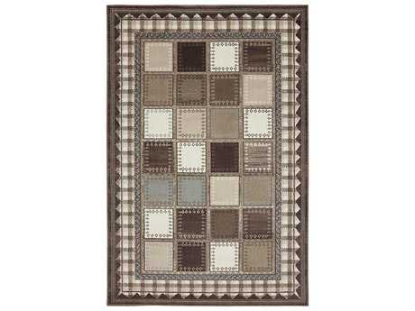 American Rug Craftsmen Woolrich Box Plaid Rectangular Brown Area Rug