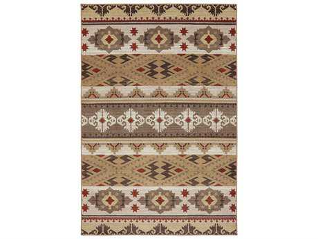 American Rug Craftsmen Woolrich Yuma Rectangular Brown Area Rug