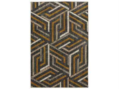 American Rug Craftsmen Metropolitan Aster Mustard Rectangular Area Rug
