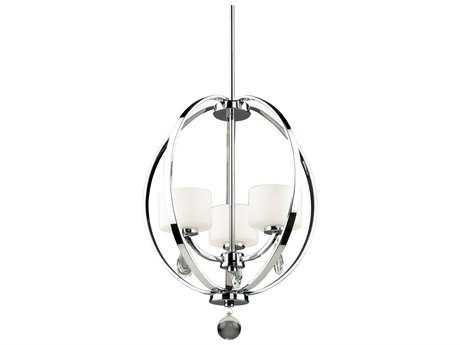 Artcraft Lighting Piccadilly Chrome Three-Light 16'' Wide Mini Chandelier