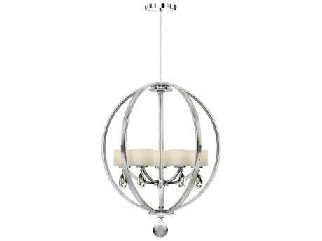 Artcraft Lighting Piccadilly Chrome Five-Light 26'' Wide Chandelier