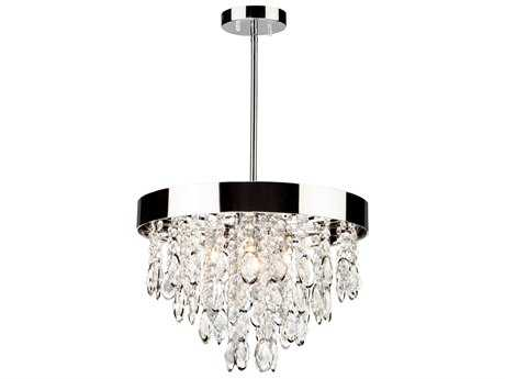 Artcraft Lighting Elegante Chrome Four-Light 16'' Wide Pendant Light