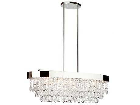 Artcraft Lighting Elegante Chrome Five-Light Island Light